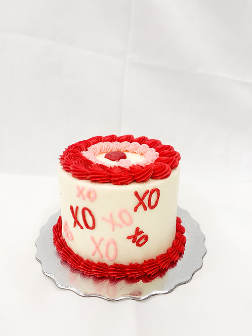 XO 4-Inch Cake