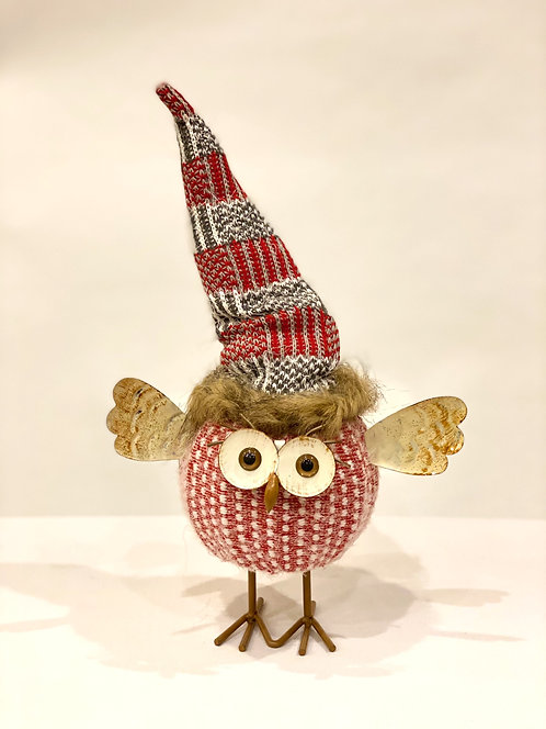 Red Knit Owl