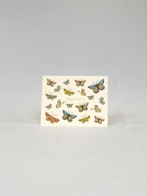 ButterflyThank You Card