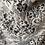 Thumbnail: Black + White Wool Lace Scarf