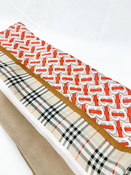 Red and Beige Scarf