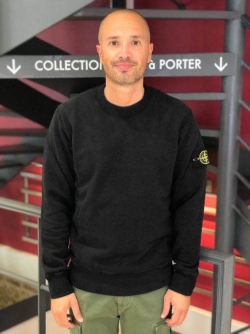 Sweatshirt 63020 black, STONE ISLAND