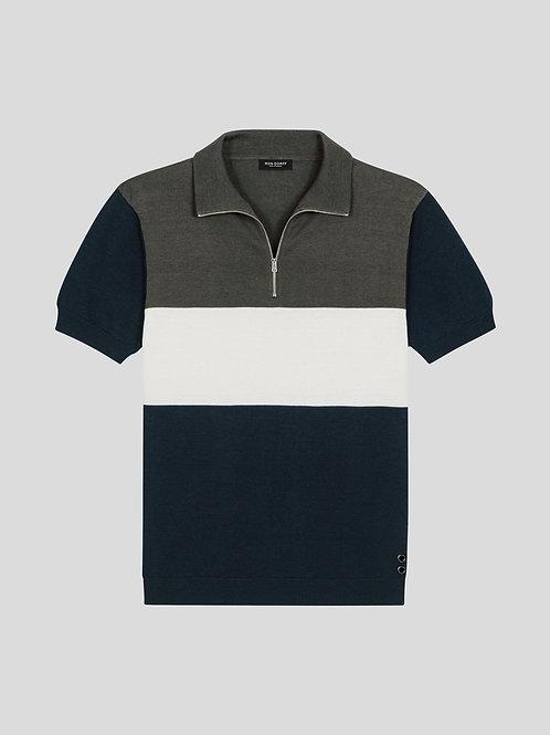 Polo à rayures navy, RON DORFF