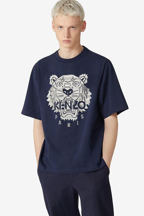 T-shirt oversize Tigre brodé navy, KENZO
