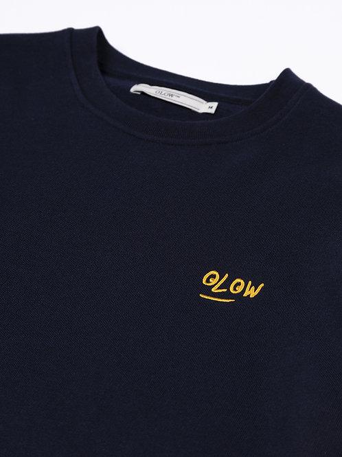 Sweat coton biologique Mathieu navy, OLOW