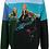 Thumbnail: Pull en coton brodé Mountain bleu, PAUL SMITH