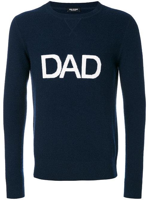 Pull Dad en cachemire navy, RON DORFF