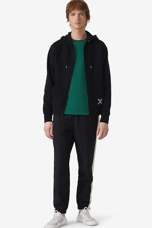 Sweatshirt zippé à capuche noir little X, KENZO