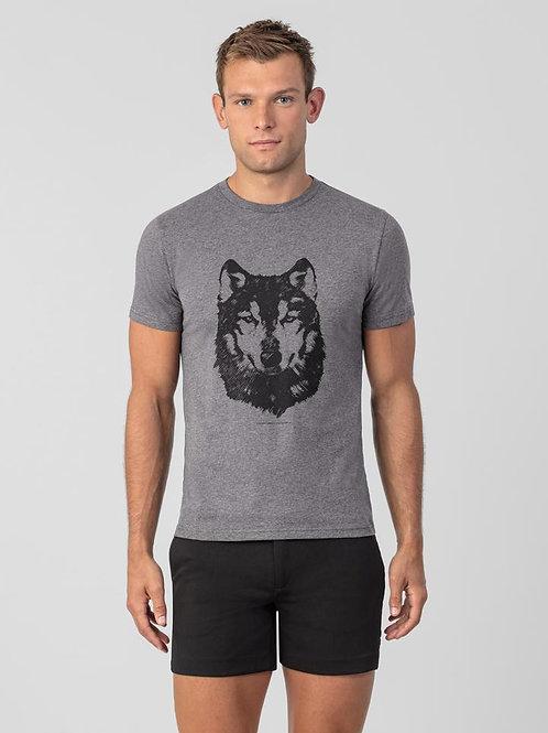 T-shirt gris Loup, RON DORFF