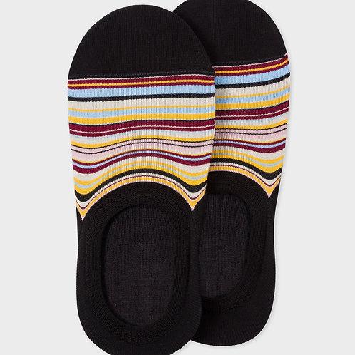 Socquettes Homme Noires 'Signature Stripe', PAUL SMITH