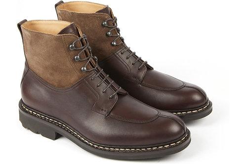 Boots Ginkgo en cuir imperméable marron, HESCHUNG