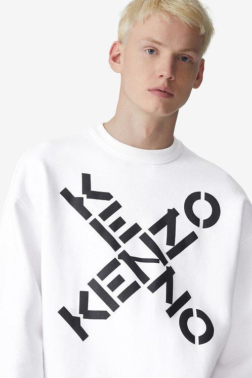 Sweatshirt big X blanc, KENZO