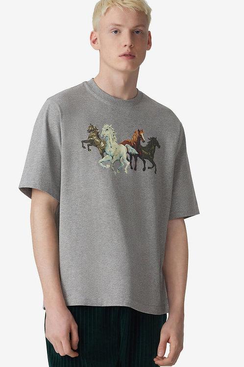 T-shirt oversize Cheveaux gris, KENZO