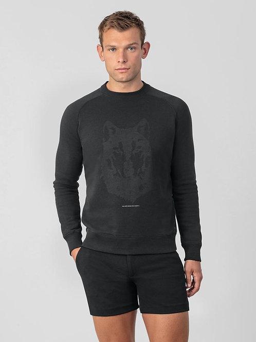 Sweatshirt Loup noir, RON DORFF