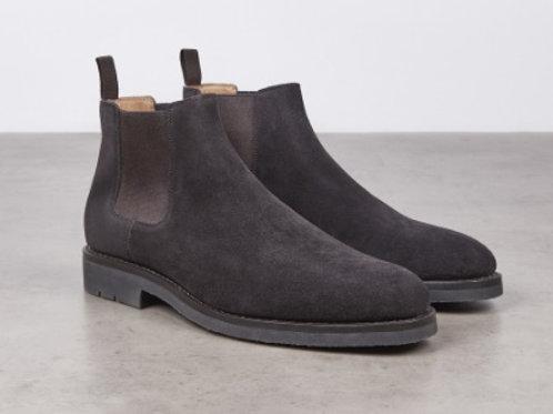 Boots Fusain velours marron, HESCHUNG