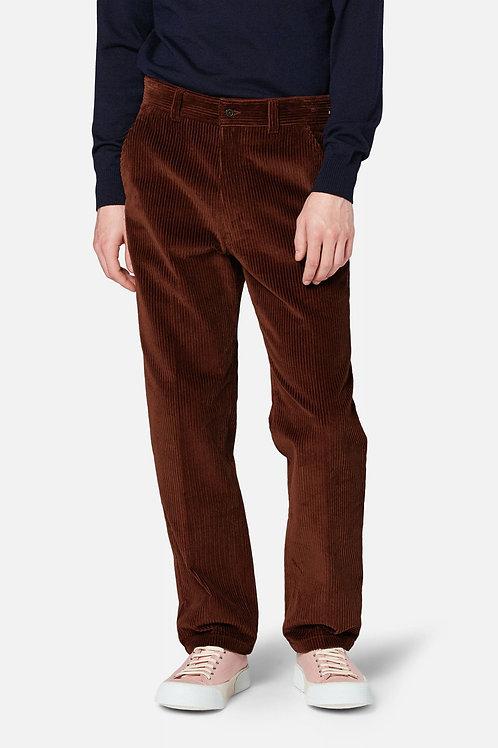 Pantalon droit en velours cognac, AMI