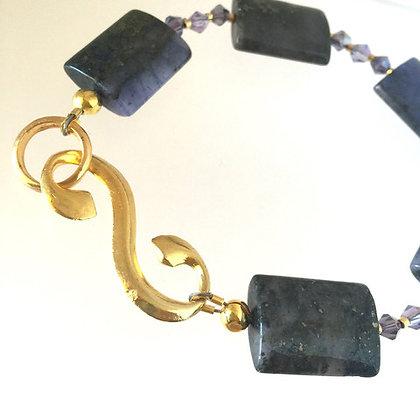 BLUE DUSK Copper Jasper & Crystal Bracelet