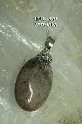 SMOOTH Rhodochrosite Pendant Necklace