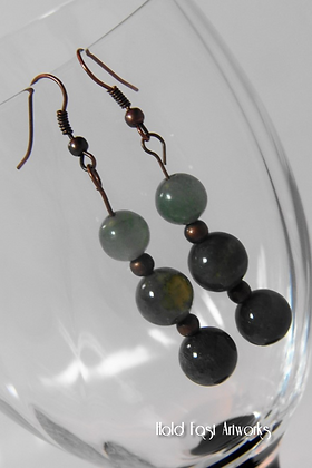 """Fancy Jasper"" Earrings"