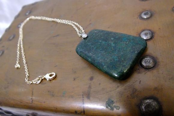 SIMPLE GREEN  Stone Pendant