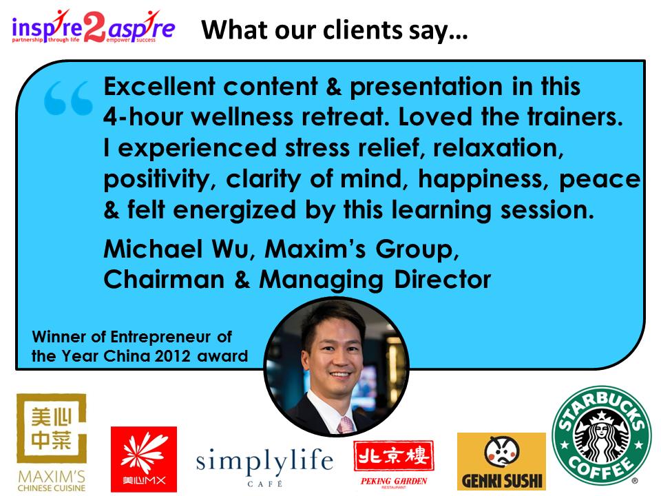 Michael Wu, Maxims Group testimonial