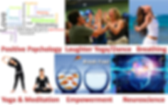 Positive Psychology, Laughter Yoga, Yoga Dance, Breathing, Yoga, Meditation, Empowerment, Neuroscience