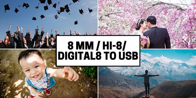 8 mm Hi8 Digital8 to USB drive transfer