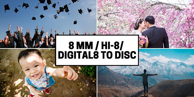 8mm Hi8  Digital8 tapes to DVD Disc transfer