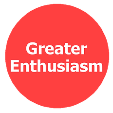 greater enthusiasm, larger outlook