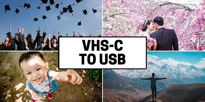 VHS-C videotapes to USB drive transfer