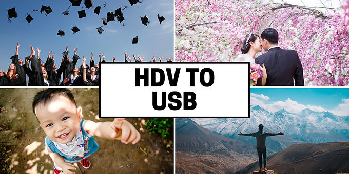 HDV tapes to USB drive transfer