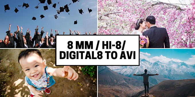8mm Hi8 Digital8 to Uncompressed AVI Format convert