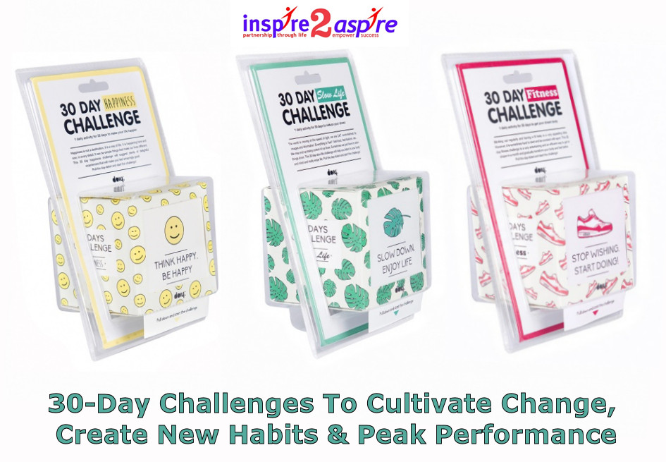 30-day-challenge for health, happiness, fitness - to cultivate change, new habits and peak performance