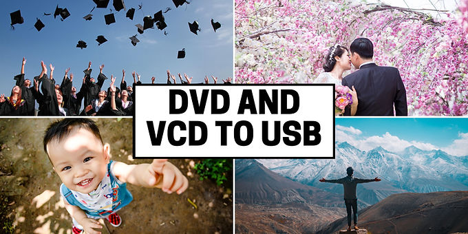 DVD VCD  discs to USB drive transfer