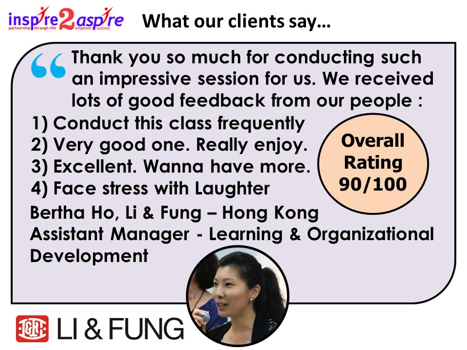 Bertha Ho, Li & Fung testimonial