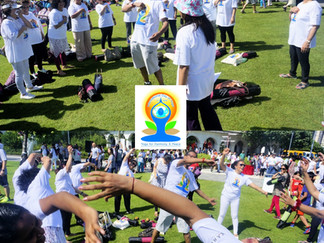 Laughter Yoga & Yoga Dance session on 2nd International Day of Yoga