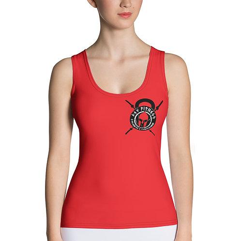 Women's Tank Top Red KSV Logo 2