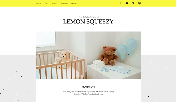 Livsstil website templates – Crafty Mom Blog