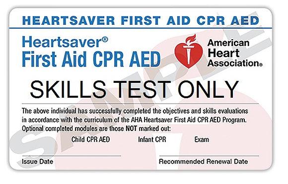 AHA Heartsaver Skills Test