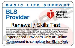 BLS Renewal or Skills Test Only