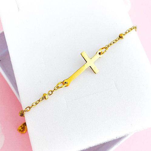 Bracciale Croce Gold