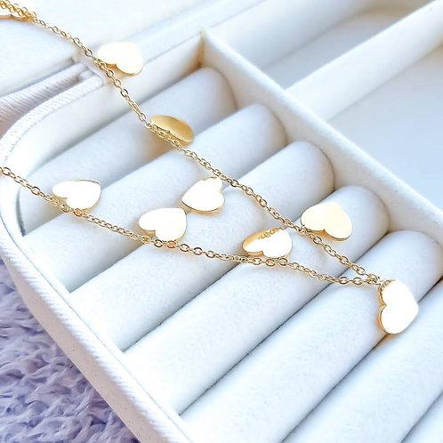 Collana Cuori Gold