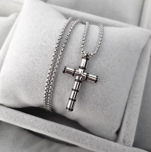 Collana Croce Silver