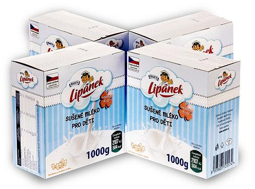 MAX BOX Sušené mlíčko Lipánek pro děti 4 x 1000 g