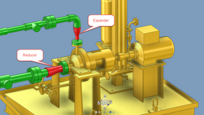Tại sao sử dụng reducer ở suction của bơm và expander ở discharge của bơm?