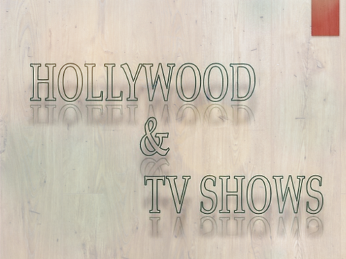 Hollywood & TV Shows - Pack # 1