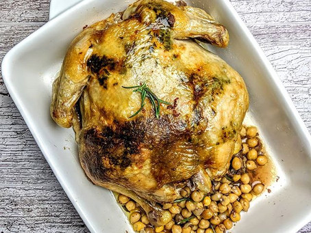 Herb Roasted Chicken with Chickpeas