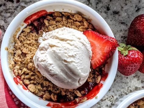 Gluten Free Strawberry Crisp