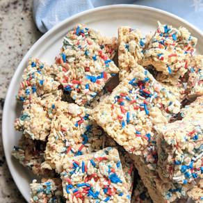 Gluten Free Rice Crispy Treats with Sprinkles