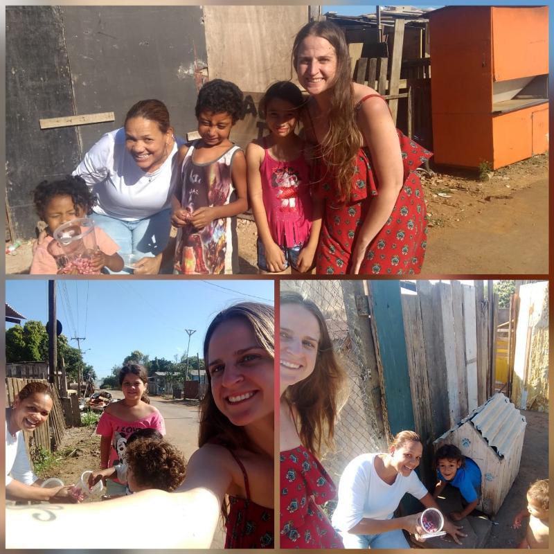 Doação de brinquedos na vila Dique